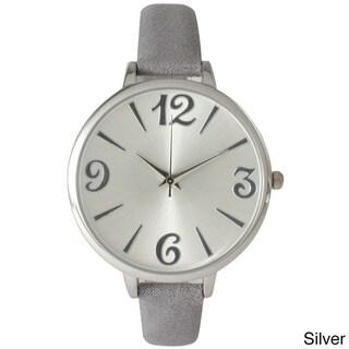 Olivia Pratt Women's Petite Leather Strap Minimalist Watch