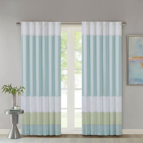 Madison Park Chester Polyoni Pintuck Curtain Panel
