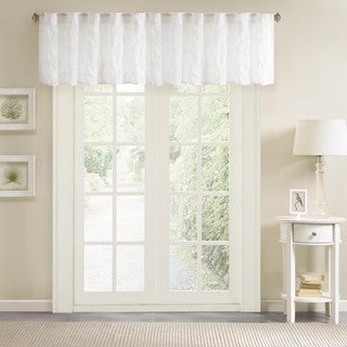 Madison Park Kida Sheer Embroidered Window Valance - 50 x 18""