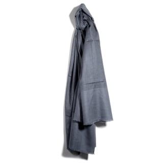 Davidoff Stone Grey Pashmina Strips Jacquard Scarf