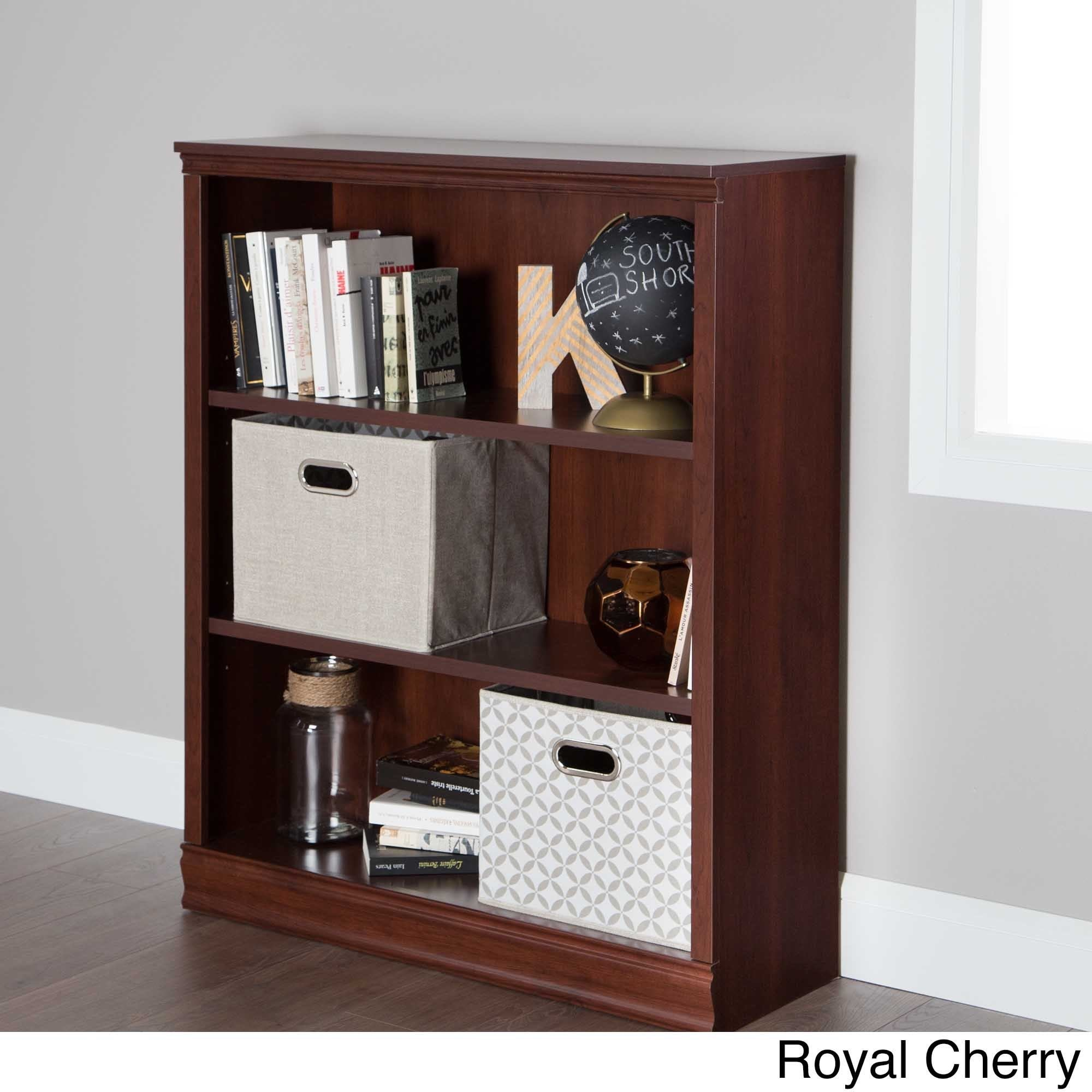 creek shelf mission cherry collection furniture bush three bookcase pin axess antique shore south