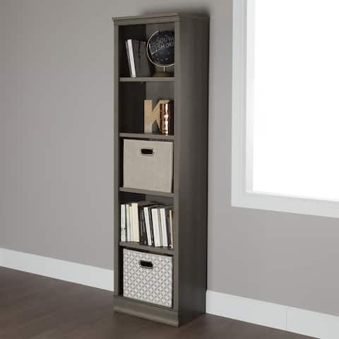 South Shore Morgan 5-shelf Narrow Bookcase