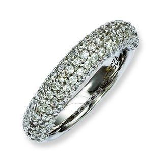 Versil Sterling Silver Pave 113-stone Cubic Zirconia Ring