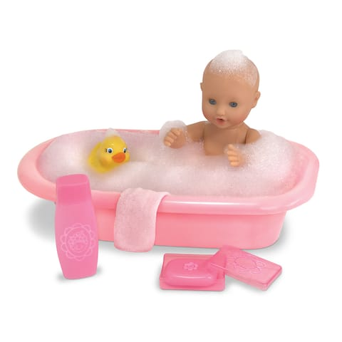 Melissa & Doug Mine to Love Baby Doll Bathtub and Accessories Set (6 pcs)