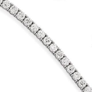 Versil Sterling Silver Rhdm pltd Cubic Zirconia Bracelet