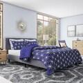 Serenta Memphis Dark Blue Cobalt Printed Microfiber 7-piece Quilt Set