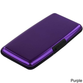 Imperial Home Small Aluminum RFID Blocking Wallet and Card Case (Option: Purple)