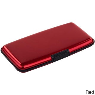 Imperial Home Small Aluminum RFID Blocking Wallet and Card Case (Option: Red)