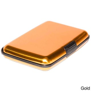 Imperial Home Small Aluminum RFID Blocking Wallet and Card Case (Option: Gold)
