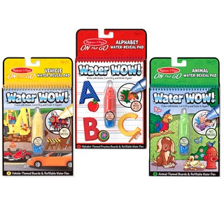 Melissa & Doug Water Wow Bundle Vehicles. Animals and Alphabet