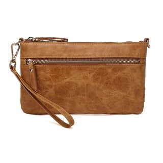 Vicenzo Leather Maci Distressed Leather Crossbody/Clutch Handbag