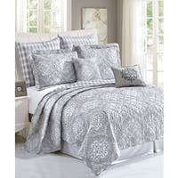 Gracewood Hollow Rice Printed Microfiber 7-piece Quilt Set