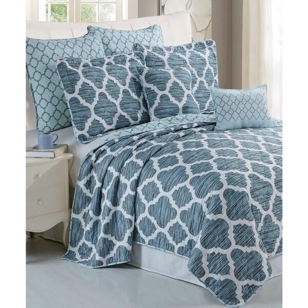 Serenta Honor Printed Microfiber 7-piece Bedspread Quilt Set