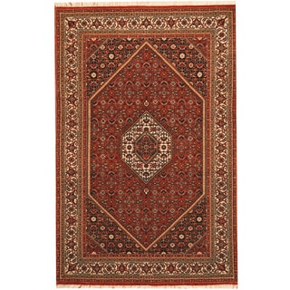 Herat Oriental Persian Hand-knotted Tribal Bidjar Wool Rug (4'3 x 6'5)