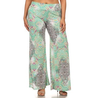 MOA Collection Plus Women's Palazzo Pants