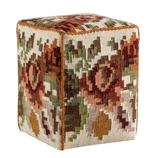 M.A.Trading Handmade Karba2 Cream 20 x 16 x 16-inch Pouf (India)