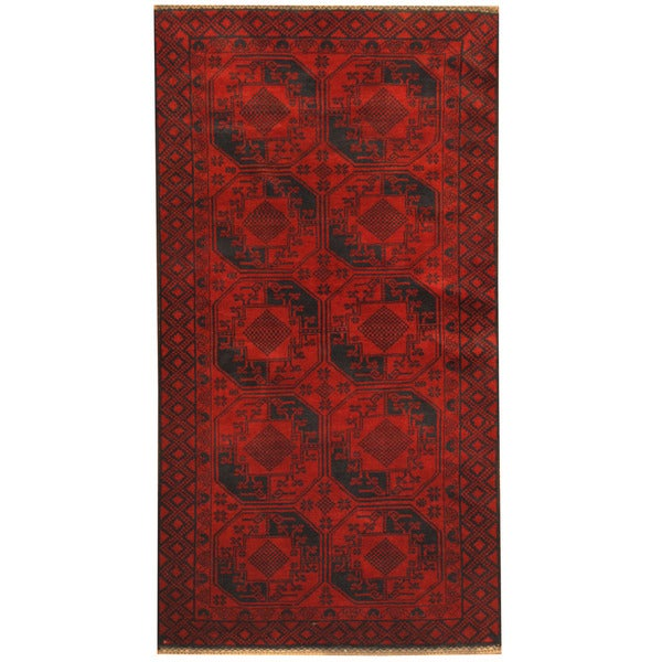 Handmade Herat Oriental Afghan 1960s Semi-antique Tribal Balouchi Wool Rug (Afghanistan) - 3'6 x 6'8