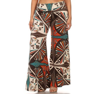 MOA Collection Plus Women's Abstract Pants