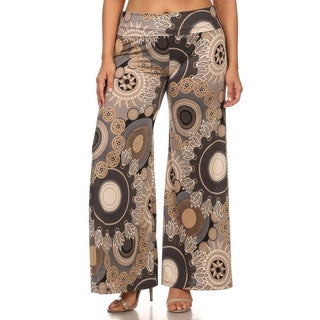 MOA Collection Plus Women's Medallion Pants