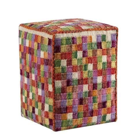 "Handmade Small Box Multi Pillow - 20"" x16"" x 16"" (India)"