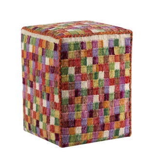 M.A.Trading Hand-woven Small Box Multi Pillow (20-inch x16-inch x 16-inch) (India)