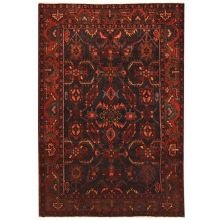 Herat Oriental Persian Hand-knotted 1960s Semi-antique Hamadan Wool Rug (4'6 x 6'6)