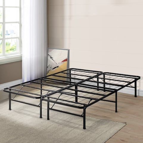 Twin Size 14 inch Platform Bed Frame - Crown Comfort