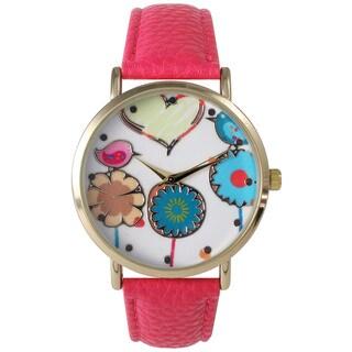 Olivia Pratt Women's Leather Love Spring Watch