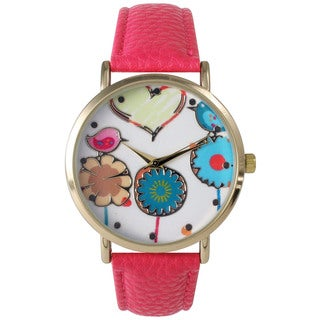Olivia Pratt Women's Leather Love Spring Watch
