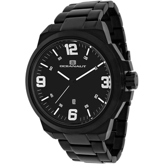 Oceanaut Men's OC7310 Armada Round Black Stainless Steel Bracelet Watch