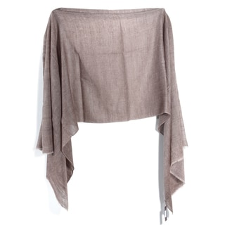 Davidoff Brown Pashmina Double Weave Scarf