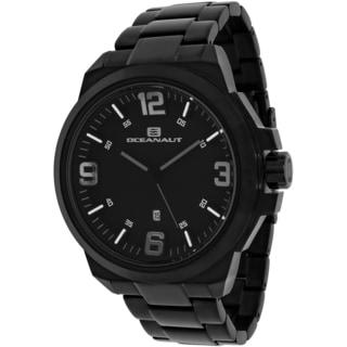 Oceanaut Men's OC7313 Armada Round Black Stainless Steel Bracelet Watch