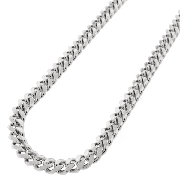 8ea08f379 Shop Sterling Silver 6.5mm Miami Cuban Curb Link Thick Solid 925 Rhodium  Chain Necklace 24