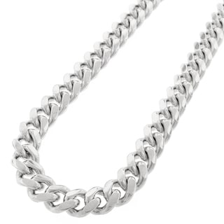 925 Sterling Silver 13.5mm Solid Miami Cuban Curb Link Necklace Chain