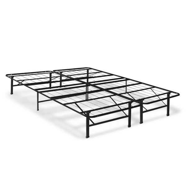 crown comfort 14 inch queen size platform bed frame free shipping today 18539989. Black Bedroom Furniture Sets. Home Design Ideas
