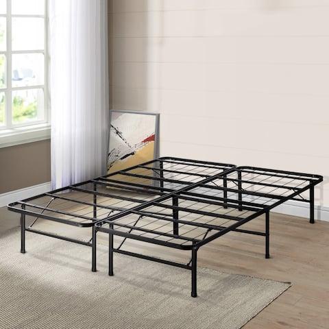 Queen Size Bed Frame Platform 14 Inch - Crown Comfort