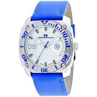 Oceanaut Men's OC1341 Barletta Round Blue Leather Strap Watch