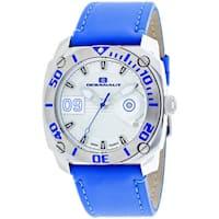 Oceanaut Men's  Barletta Round Blue Leather Strap Watch