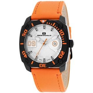 Oceanaut Men's OC1344 Barletta Round Orange Leather Strap Watch