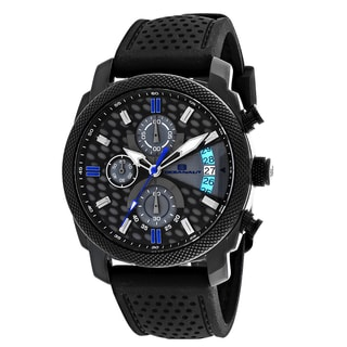 Oceanaut Men's OC2321 Kryptonite Round Black Rubber Strap Watch