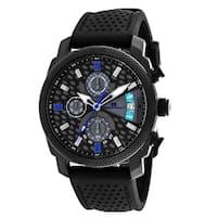Oceanaut Men's  Kryptonite Round Black Rubber Strap Watch