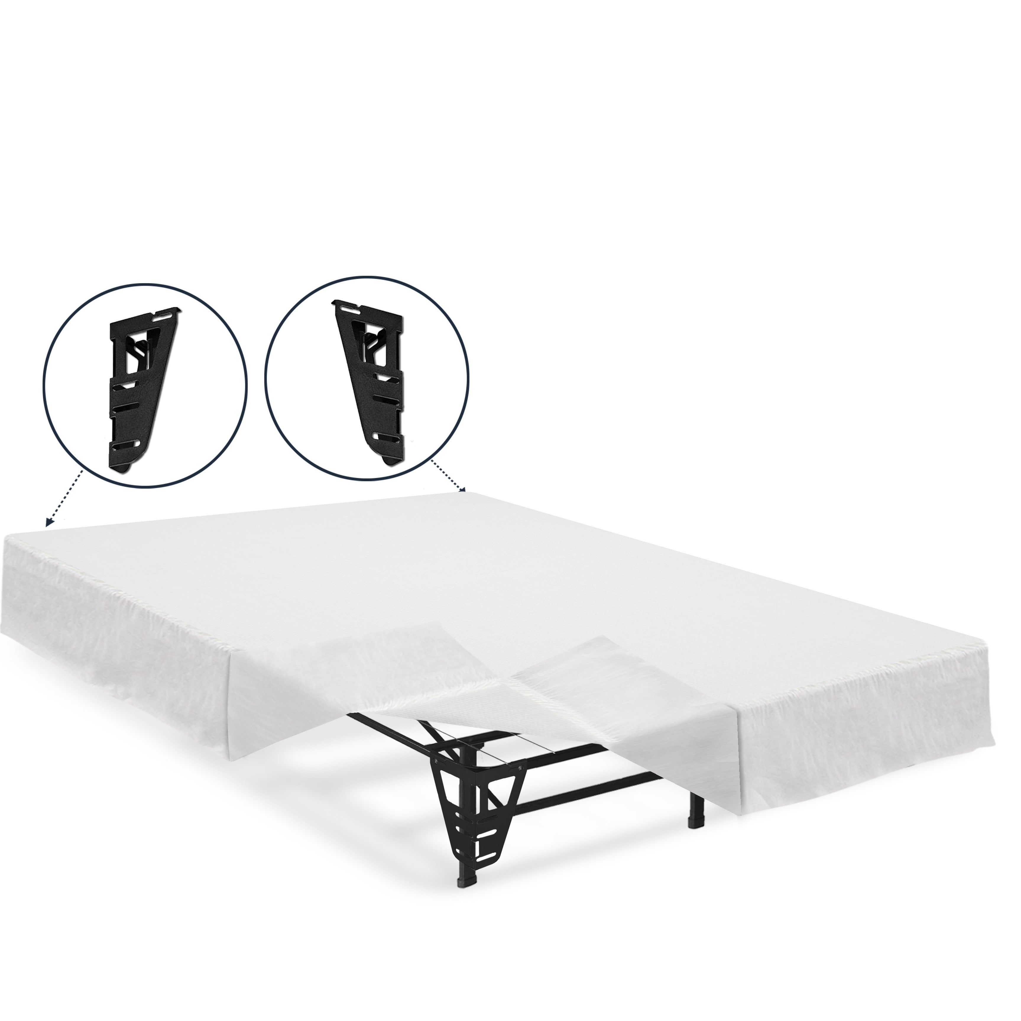 Crown Comfort 14-inch Full-size Platform Bed Frame with B...