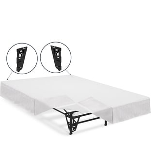 Crown Comfort 14-inch Full-size Platform Bed Frame with Brackets and Skirt