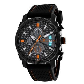 Oceanaut Men's OC2323 Kryptonite Round Black Rubber Strap Watch