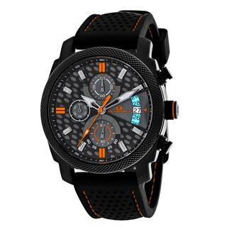 Oceanaut Men's OC2323 Kryptonite Round Black Rubber Strap Watch