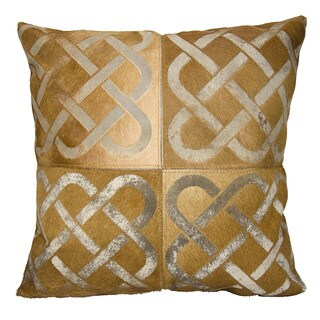 Mina Victory Dallas Infinity Square Amber Throw Pillow (20-inch x 20-inch) by Nourison