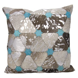 Mina Victory Dallas Stars Grey/Silver Throw Pillow (20-inch x 20-inch) by Nourison