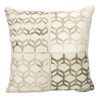 Mina Victory Dallas Modern Cubes White Throw Pillow (20-inch x 20-inch) by Nourison