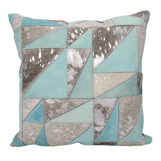 Mina Victory Dallas Triangles Grey/Silver Throw Pillow (20-inch x 20-inch) by Nourison