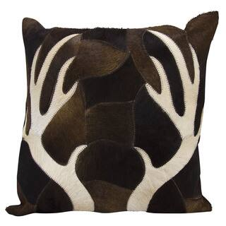 Mina Victory Dallas Antler Piecework Chocolate Throw Pillowby Nourison 20 Inch X
